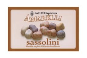 Sassolini, vaniljdragerad lakritskonfekt med anissmak, 100 g