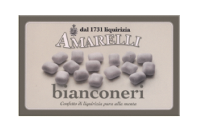 Bianconeri, mintdragerad lakritskonfekt, 100 g
