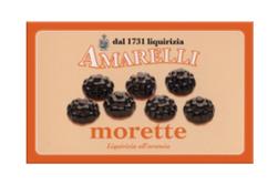 Morette, mellanmjuk lakrits med apelsinsmak, 100 g